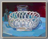 "CERAMIC BASKET, JAR AND BOTTLE   2007   OIL/BOARD   16""X20"""