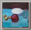 "POMEGRANATE AND APPLES   2006   oil/board   11½""x12"""