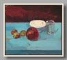 "POMEGRANATE AND TUMBLER   2005  POMEGRANATE AND TUMBLER   2005   oil/board   10""x11½"""
