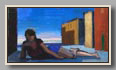 "RECLINING FIGURE IN STREET   2005-06   oil/board   7½""x14"""